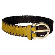 Salvatore Ferragamo Gancini Signature Tri-Color Belt from Italy REDUCED