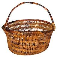 Vintage Wicker Basket Mid-20th Century