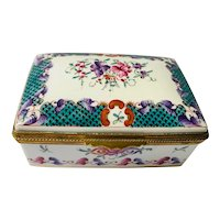 Large Samson Porcelain Box in the Chinese Export Style
