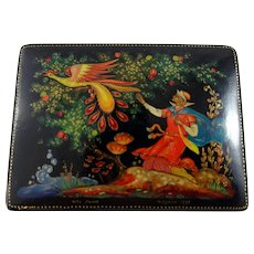 "1972 Russian Lacquer box with ""Firebird"" fairy tale"