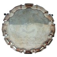 English Sterling Silver Arab Horse Society Trophy Salver
