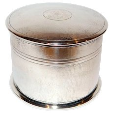 Chinese Export Silver Box by Tuck Chang c. 1900 with gilt interior