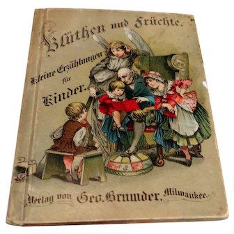 c. 1890 German language children's story book by George Brumder