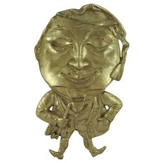 Solid Brass Figural Ashtray or Pin Dish - Wee Willie Winkie