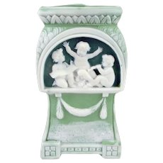 Schafer and Vater Tri-color Vase with Cherubs
