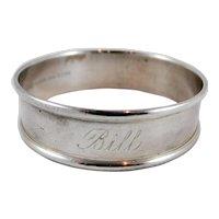 Gorham sterling silver napkin ring Bill
