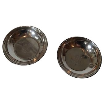 Two 900 silver Egyptian dishes