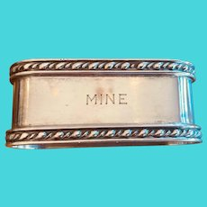 "This Sterling Napkin Ring is ""MINE""!  Great early 20th c. American ring"
