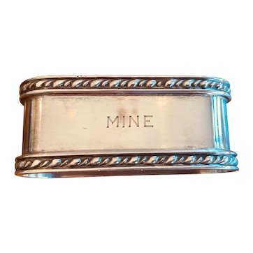 """This Sterling Napkin Ring is """"MINE""""!  Great early 20th c. American ring"""
