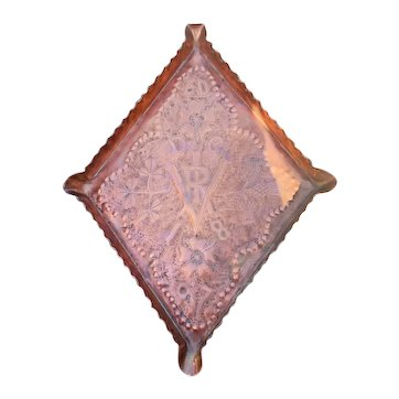 Arts and Crafts Hand Hammered Copper Tray for Queen Victoria's Diamond Jubilee