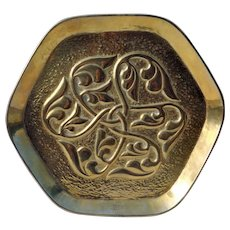 Brass Arts & Crafts tray by Alexander Ritchie of Iona