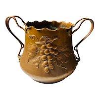 c. 1900 Art Nouveau Hand Hammered Copper Wine Bucket