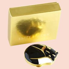 Perfect or PURRFECT vintage Estee Lauder cat compact