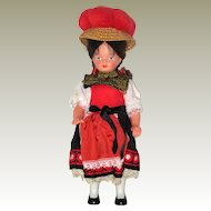 1960's German Black Forest Souvenir Doll