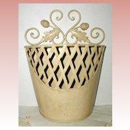 Decorative Metal Planter or Letter Holder