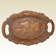 1930's Syroco or Orna-Wood Floral and Fruit Tray
