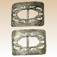 Pair of French Art Deco Era Reyco Shoe Buckles