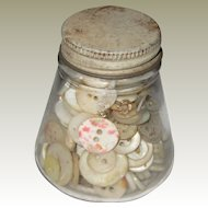 Small Jar of Mixed Mother-of-Pearl Buttons