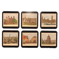 Box Set of Six Unused Pimpernel Drink Coaster - London Scenes