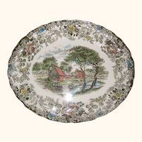 "Johnson Brothers ""Mill Stream"" Serving Platter - 9 3/4"" x 11 7/8"""