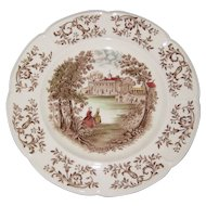 "Johnson Brothers Windsorware ""Mt. Vernon"" 10"" Dinner Plate"