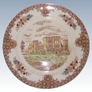 """Brown and Ritchie English Castles 10 1/2"""" Dinner Plate - Hever Castle"""