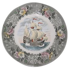 "Adams Plate - The Mayflower II - 9 3/4"" - Red Tag Sale Item"