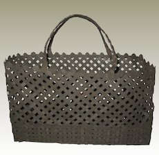 Hand Woven Sheet Metal Strips Basket or Tote - Industrial Chic!