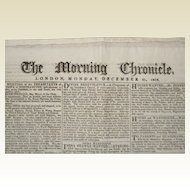 Morning Chronicle - London, Monday, December 21, 1818 - Newspaper