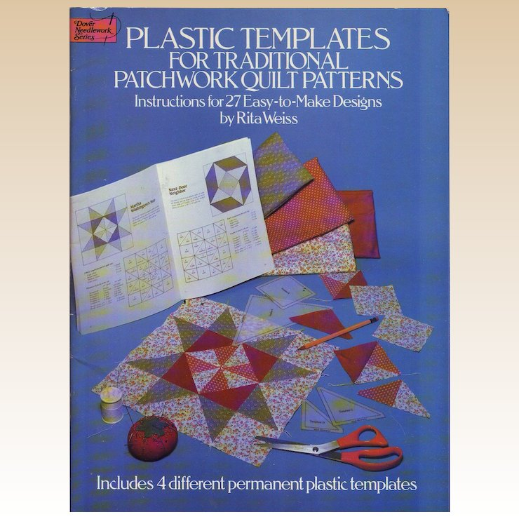 traditional patchwork quilt patterns 27 easy to make designs with plastic templates