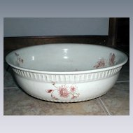 Large Ironstone Transferware Wash Basin with Chrysanthemums, circa 1890