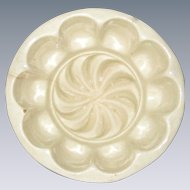 Victorian Stoneware Pudding or Food Mold - Swirl Pattern