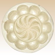 Victorian Stoneware Creamware Pudding or Food Mold - Swirl Pattern