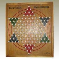 Milton Bradley Chinese Star Checkers Board