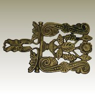 Cast Iron Trivet with Grapes and Scrolls