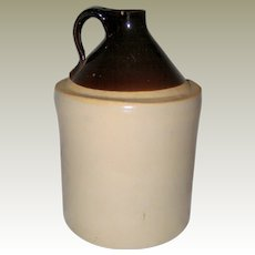 Old Brown and Tan Stoneware Crock or Jug - Late 1800's