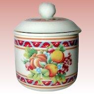 Germain Monteil 1980's Ceramic Porcelain Trinket Box in Autumn Colors