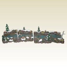 Department 56 Retired Mountain Creek Straight Sections, Set of 2 - Mint Condition - Village Accessories 56.53006