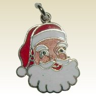 Smiling Santa Cloisonne Charm