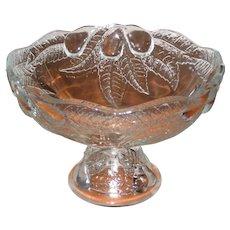 1985 Teleflora Della Robia Pedestal Compote or Fruit Bowl