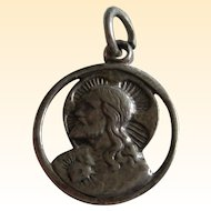 Petite Sterling Silver Sacred Heart of Jesus Charm