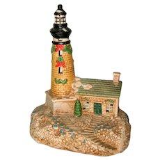 Ceramic Brown Holiday Lighthouse - Nightlight or Decoration