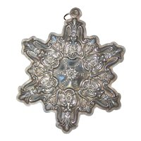 Towle Sterling Silver Old Master Snowflake Christmas Ornament 1990