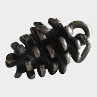Three Dimensional Sterling Silver Pine Cone Charm