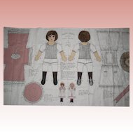 Mary Anne Victorian Style Printed Cloth Doll Pattern