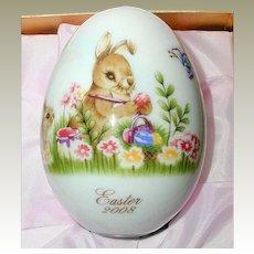Noritake Bone China Easter Egg 2008 - Original Box and Papers