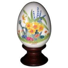 Noritake 2003 Hand Painted Bone China Porcelain Easter Egg - Daffodils