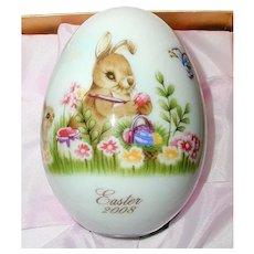 Noritake 2008 Hand Painted Bone China Porcelain Easter Egg -Easter Bunny Painting Eggs