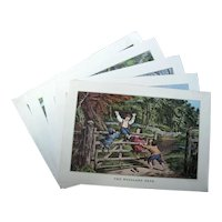 Five Currier and Ives Calendar Prints from The Travelers Insurance 1971 -1980