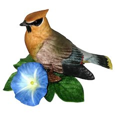 Lenox Garden Birds Figurine - Cedar Waxwing